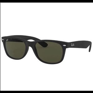 RayBan New Wayfarer Rb2132 Rubber Black Sunglasses